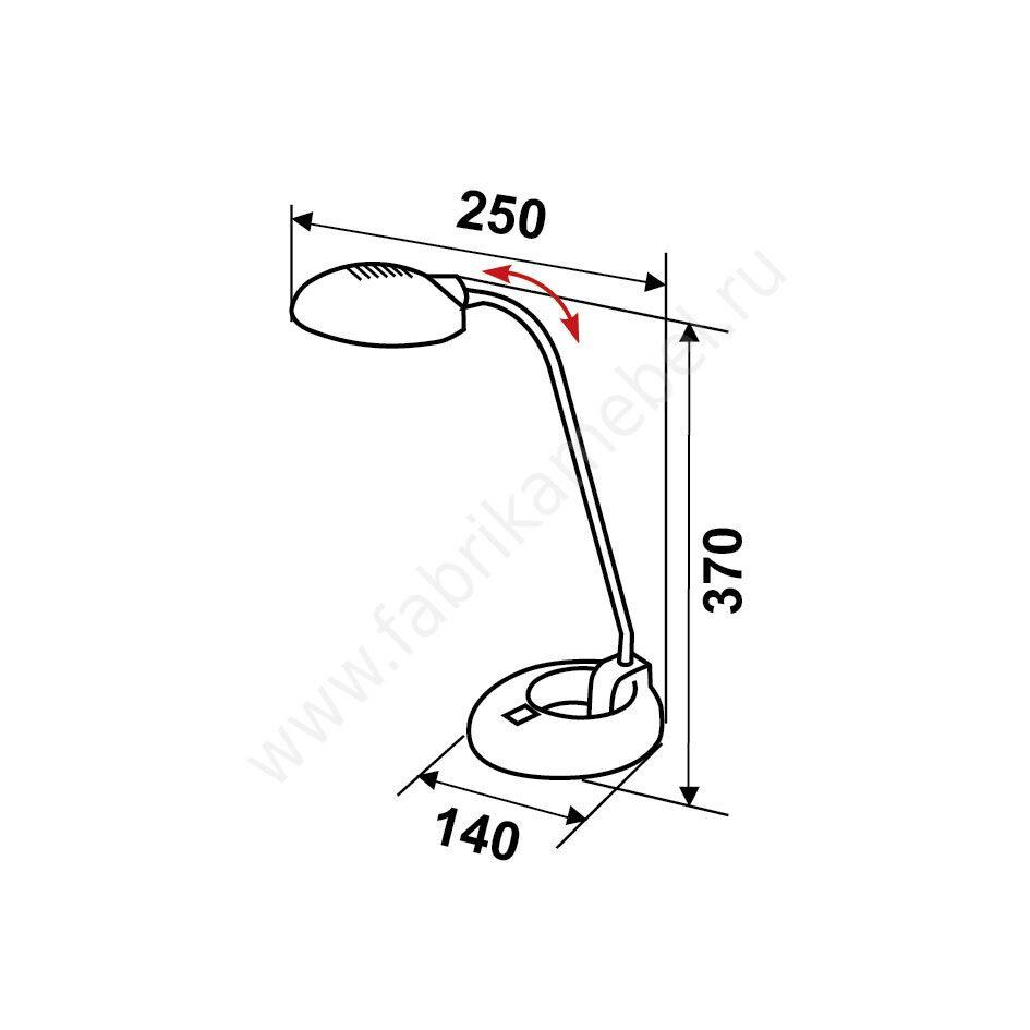 Светильник настольный на подставке Патрон: G9 Тип лампы: Лампа галогенная (40 Вт) Материал: Металл...
